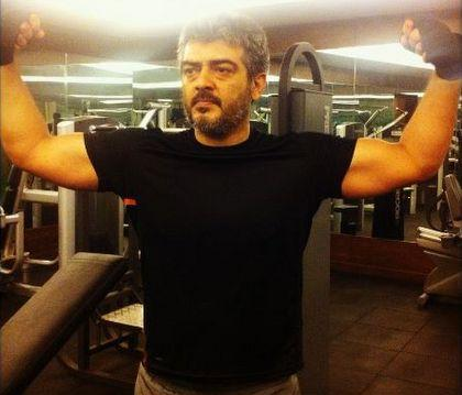 Ajith's workout for his upcoming film with Vishnuvaradhan