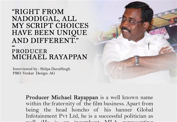 Producer Michael Rayappan Interview - Interview image