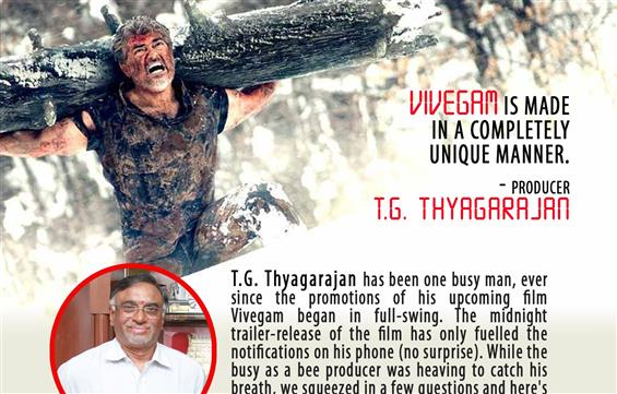 Vivegam's producer T.G. Thyagarajan Interview - Interview image