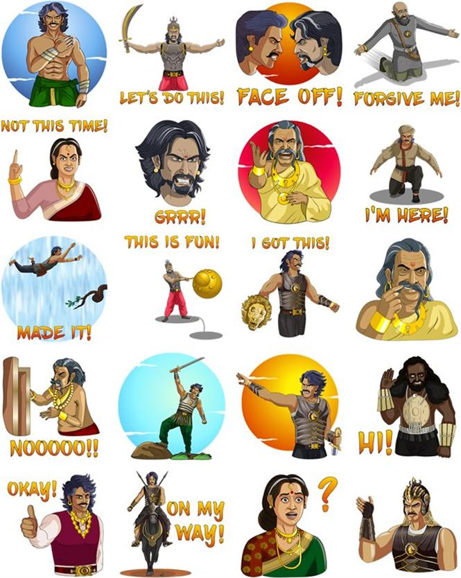After Sholay, Baahubali gets Facebook Stickers