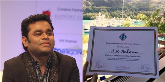 AR Rahman named Cultural Ambassador for Seychelles - Tamil Movie Poster
