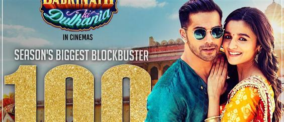 Badrinath Ki Dulhania Enters into the 100 Crore Club - Movie Poster