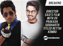 Breaking - Director Sasi's film with GV Prakash, S...
