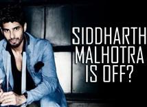 Did Siddharth Malhotra go off-line for this reason...