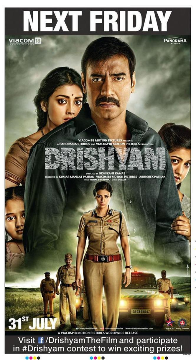 drishyam new poster hindi movie music reviews and news