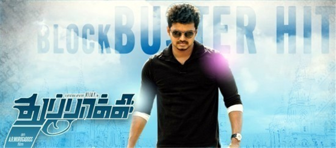 Eros announces Thuppaki collected Rs.180 Crore