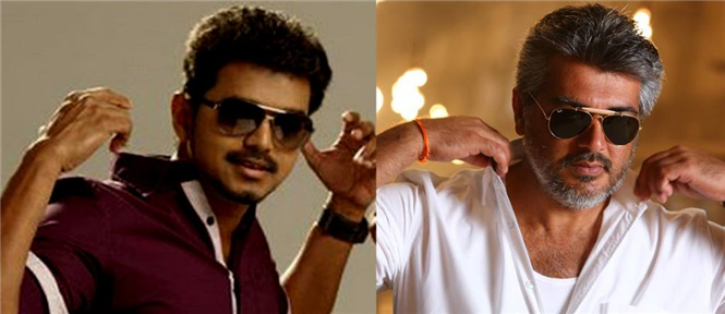 Vijay's 'Jilla' and Ajith's 'Veeram'