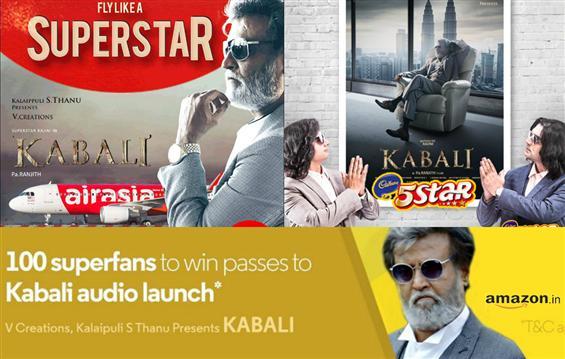 Kabali's brand marketing reaches sky-high, literally! - Tamil Movie Poster