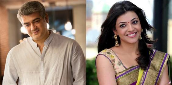 Kajal Agarwal to star opposite Ajith - Tamil Movie Poster