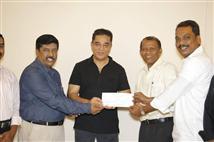 Kamal Haasan donates Rs. 20 lakh for Tamil Chair i...