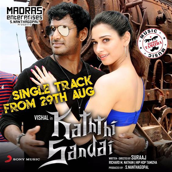Kaththi Sandai single song release date - Tamil Movie Poster