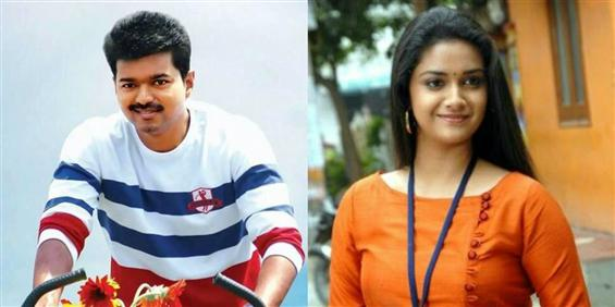Keerthy Suresh to star opposite Vijay in Bharathan's film - Tamil Movie Poster