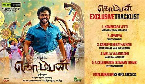 Komban Tracklist  - Tamil Movie Poster