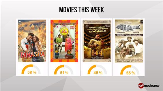 Movies This Week : Tamasha takes a lead - Tamil Movie Poster