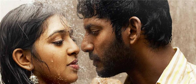 Naan Sigappu Manithan faces Censor trouble Tamil Movie ... Naan Sigappu Manithan Lakshmi Menon Lip Lock