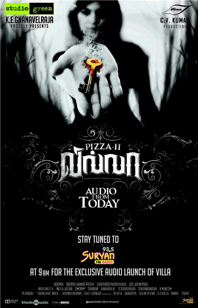 Pizza 2 The Villa Audio Launch Today Tamil Movie Music