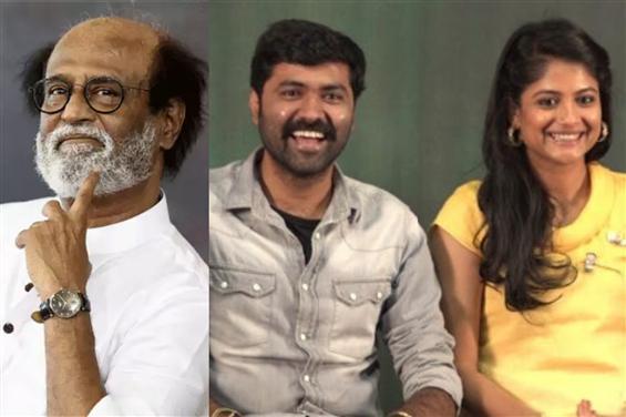Rajinikanth blesses team Aruvi with Gold