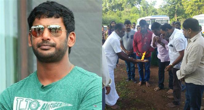 Sandakozhi 2 begins with an official pooja