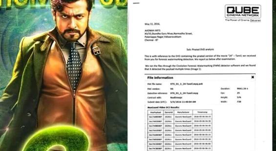 Shocking: Suriya's 24 pirated copy shot at PVR Cin...