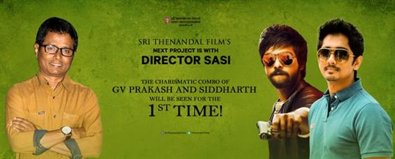 Siddharth and GV Prakash team up for director Sasi - Tamil Movie Poster