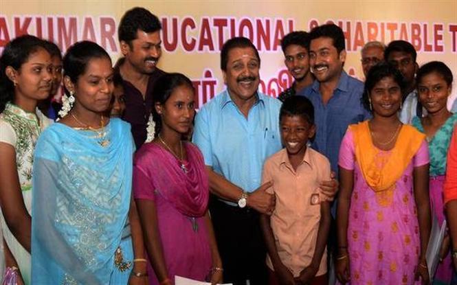 Suriya's Agaram Foundation honours student acheievers