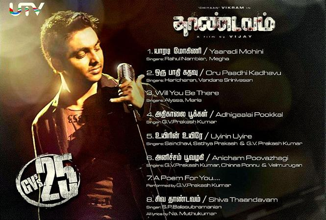 Thaandavam Songs Track List