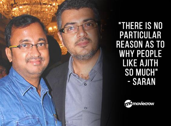 """""""There is no particular reason as to why people like Ajith so much"""" - Saran image"""