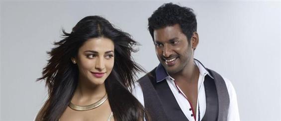 Vishal, Shruthi Haasan off to Switzerland for Poojai song shoot - Tamil Movie Poster