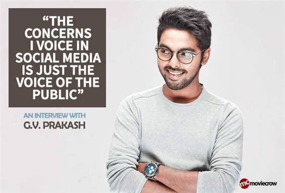 G.V. Prakash Interview - Interview image