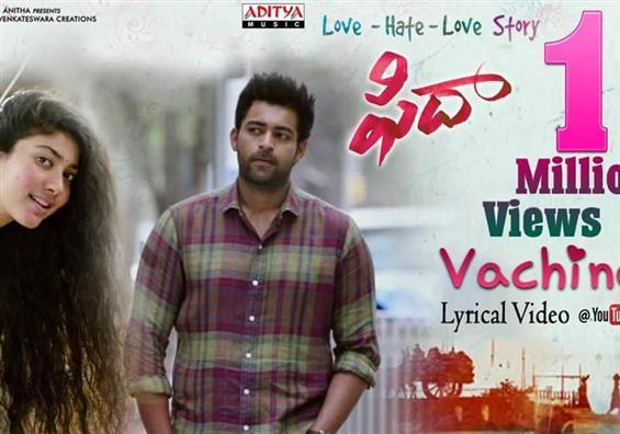 1 million views for Fidaa's Vachindi