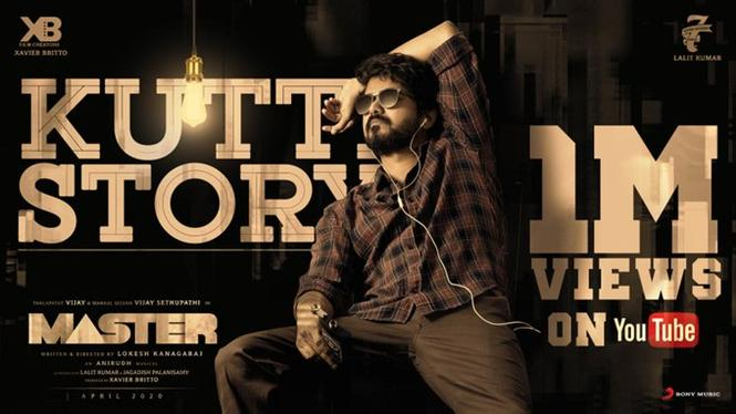 1 Million Views in Under 30 Minutes for Master Kutti Story Song!