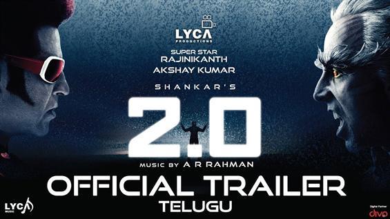 2.0 Trailer Telugu feat. Rajinikanth, Akshay Kumar...