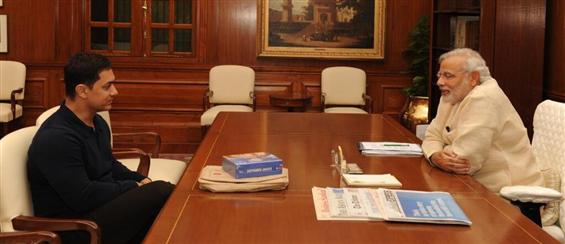 Aamir Khan meets Narendra Modi