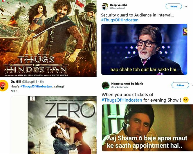 Aamir Khan's Thugs of Hindostan opens to a flood of Memes!