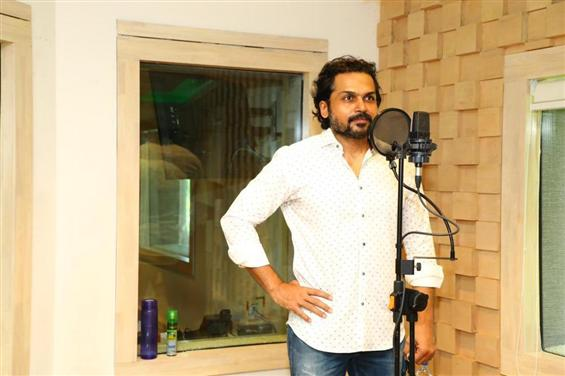 Actor Karthi begins dubbing for Sulthan!