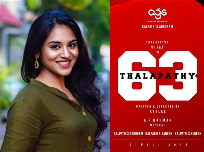 Actress Indhuja is one of the football players in Thalapathy 63!