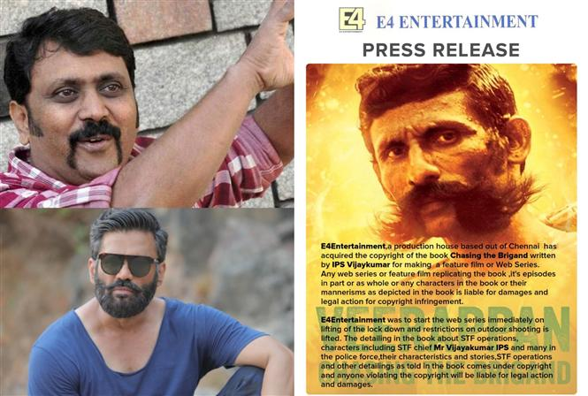 Aditya Varma producer claims rights on Veerappan film & Web-series!
