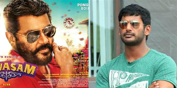 Ajith - Vishal to clash at the Box Office for Pongal 2019