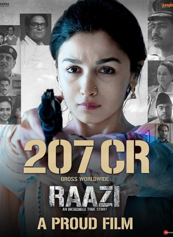 Alia Bhatt's Raazi crosses Rs 200 crore mark worldwide