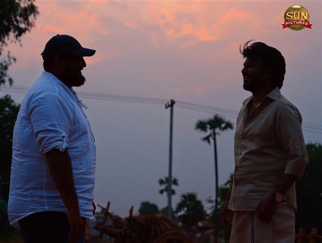 Annaatthe Shooting Spot Still feat. Rajinikanth!