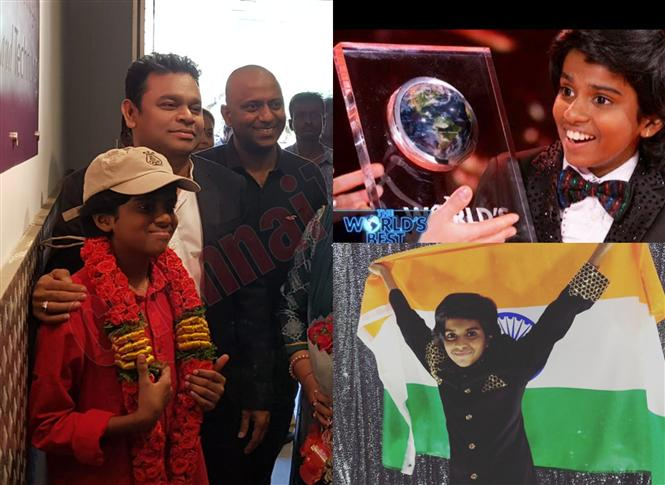 A.R. Rahman welcomes Chennai's Piano Prodigy post his 1 Million Dollar Win at The Worlds' Best!