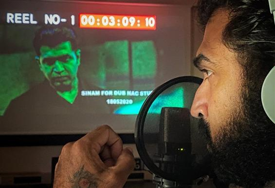 Arun Vijay posts pictures from Sinam Dubbing
