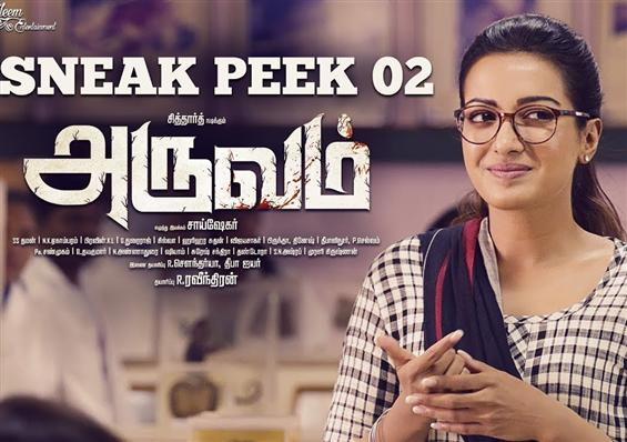 Aruvam Sneak Peak shows Catherina Tresa's characte...