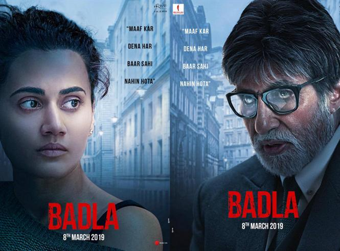 Badla first look feat.  Amitabh Bachchan and Taapsee Pannu