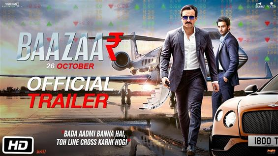 Bazaar First Look, Trailer feat. an aged Saif Ali ...