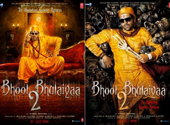 'Bhool Bhulaiyaa 2' first look posters out: Karthik Aryan is the new ghostbuster!