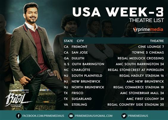 Bigil - USA Week 3 Theater List