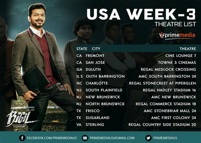 Bigil - USA Week 3 Theater List
