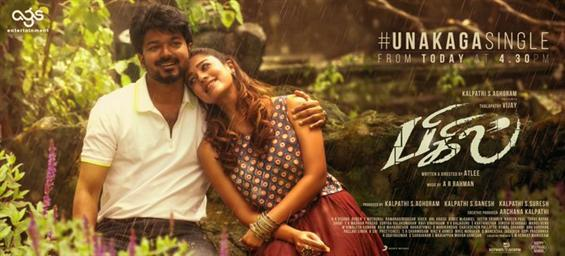 Bigil Third Single Unakaga to release today!