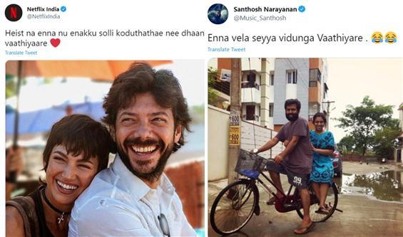 Blue ticks jump in on the Vaathiyaare fun! Sarpatta team amused!